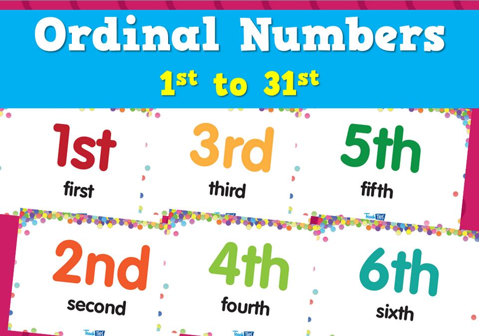 Số thứ tự trong tiếng Anh (Ordinal Number)